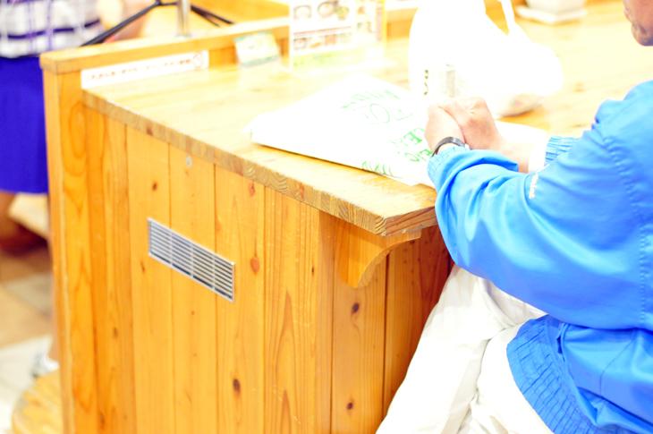 宮崎エースレーン 木製 ボウラーズベンチ