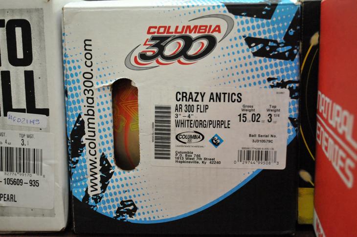 クレイジーアンティクス コロンビア ボウリングボール ABS