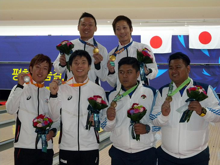 アジア大会 ボウリング 金メダル 銀メダル