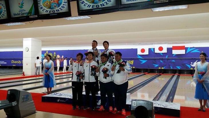 アジア大会 ボウリング 男子ダブルス 金 銀