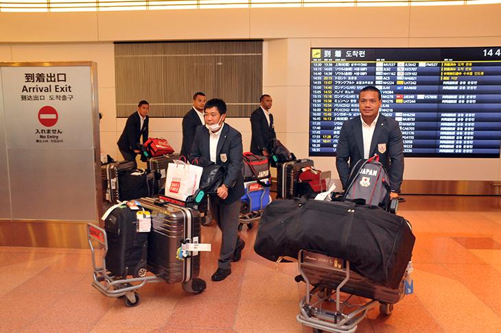 アジア大会 選手 帰国