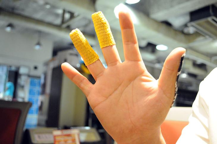 指の保護 ボウリング テーピング