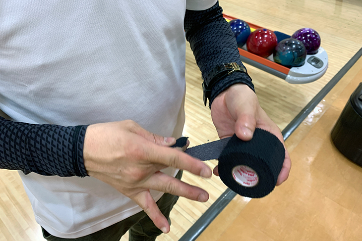 テアライトテープ ボウリング