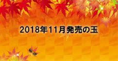 2018年11月のボウリング用マイボール発売ラインナップ情報